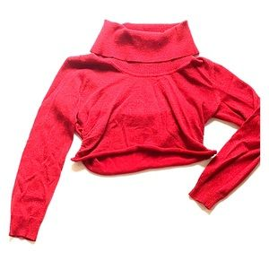 Michael Kors Cropped Red Sweater